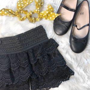 Other - Little Girls Black Crotchet Lace Shorts